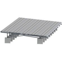 Structure de montage au sol pour panneau solaire stataion de 10 MW