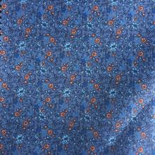 Small Flower Blue Grey/Orange Printed Lining