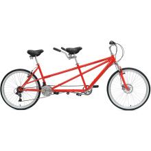 "26"" 7s Good Quality Carbon Women Beach Men Tandem Bike"