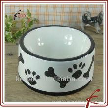 Cerámica pet food salad bowl