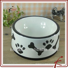 ceramic pet dog bowl