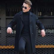Men's Cashmere Pea Coat
