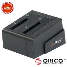 """2bay 2.5 """"y 3.5"""" SATA HDD estación de acoplamiento con USB3.0 interfaz de alta velocidad y la función de clonar"""