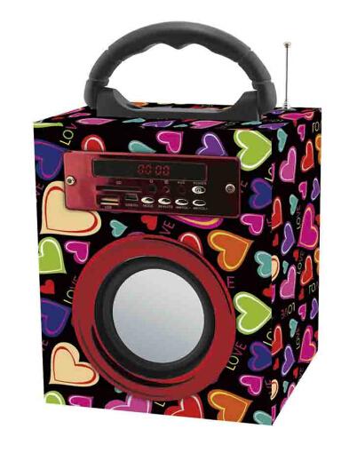 portable wood bluetooth speaker