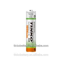 con la industria famosa de CE, SGS de 1.2v ni-mh batería recargable a un precio bajo