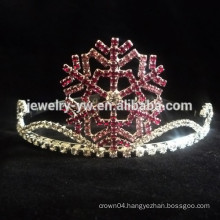 wholesale hair accessories crystals snowfake tiara and crown headband