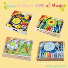 Деревянная детская музыкальная игрушка детского сада
