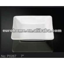 small dishes square deep white porcelain ceramic plates P0267
