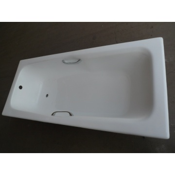 Enamel Cast Iron Bathtub With Chrome Handle