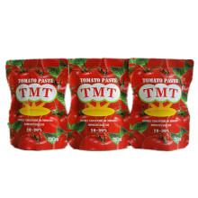 Pâte organique de tomate de sachet de 70g avec la marque de haute qualité de Tmt