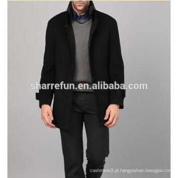 Casacos de lã de homem de solteira estilo executivo e de lazer