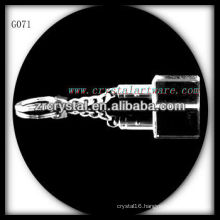 laser etched crystal keychain and blank crystal G071