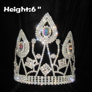 6in Unique AB Diamond Queen Crowns