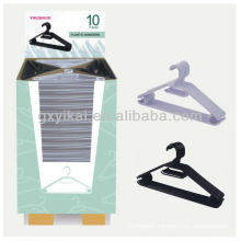 High quality promotional plastic hanger packed with display carton
