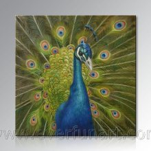 Pintura moderna do pavão da arte moderna (AN-090)