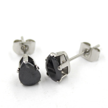 Fashionable Black Multishape Plated CZ Diamond Stud Jewelry Earrings