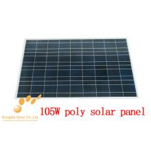Поли кристаллический 105 Вт панель солнечных батарей 18v