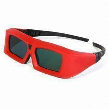 Plastic Thicken Red Cyan Anaglyph Glasses, Used for 3-D Theater and 3-D TV