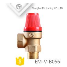 EM-V-B056 Válvula de seguridad del quemador de gas de alta presión de latón de alta calidad