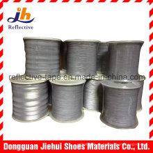 1mm/dobles lado hilo reflexivo hilados para tejer cintas y cinta