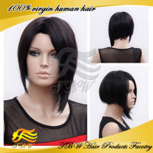 Bob Style short brazilian hair full lace wig Made in China
