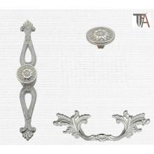 White Color Zinc Material Cabinet Handles