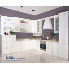 Pole White L Shape Cabinet de cuisine en PVC