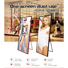 Panneau de miroir de publicité vidéo pour affiches d'intérieur P2.5 LED
