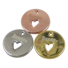 Round Metal Hang Tag Charms for Jewelry