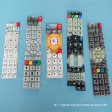 Botões de pressão de controle remoto de Silicone Keypress Universal