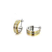 Pequeños aretes de oro para mujer, pendientes simples