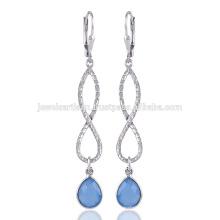 Blue Onyx Dangle & Drop Ohrring und einzigartiges Design auf 925 Sterling Silber