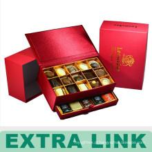 Divisor luxuoso feito sob encomenda recicl da caixa de presente dos doces de chocolate do alimento do cartão do costume