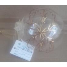 Bola de vidro do Natal ouro metálico