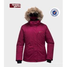 Neuester womans Winter, der im Freienjacke / skibekleidungs-Mädchenwinter-Jackenart und weise mit Haube packt
