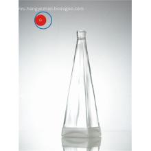 Transparent Glass Bottle of Pyramid Shape