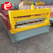 Galvanized cold roof color panel steel machine
