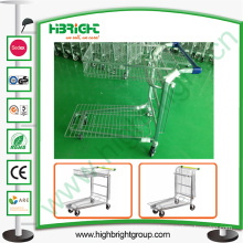Warehouse Flat Trolley with Top Basket