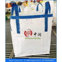 bolso grande, bolso a granel, 1,5 toneladas PP Jumbo Bag fertilizante de arena productos químicos cemento de arroz 1000kg a granel