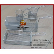Assorted kitchen craft sieves stainless steel cooking strainers mini fry baskets