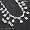 63938 Xuping beautiful luxury jewelry set color rhodium plated bridal jewelry set