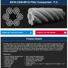 Ascenseur / Excavatrice / Pêche / Grue / Grue / Forage câble compacté 6 * 19FKFC