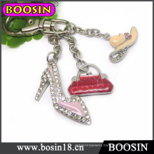 Popular Alloy Enamel Elegant Women High Heel Key Chain Wholesale