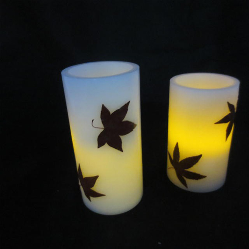 dry flower LED candle