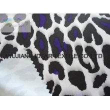 Tela impressa de bloqueio padrão de leopardo branco