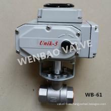 Válvula de bola motorizada eléctrica de dos piezas NPT de 2 pulgadas