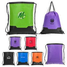 Bunte Sport-Drawstring-Taschen für Förderung