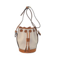 New Chic PU Shoulder Bag Ladies Drawstring Bucket Bag Zxk869