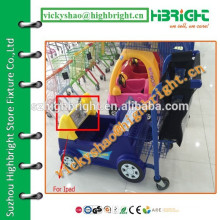 new kids shopping cart/baby stroller for supermarket/children shopping trolley with Ipad holder