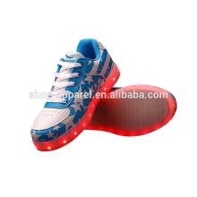 novo PU LED luzes sapatos sapatilha sapatos LED calçados esportivos